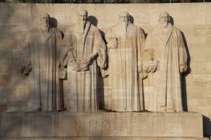 Détail du mur des Réformateurs à Genève. © Björn S. (CC-by-SA 3.0)